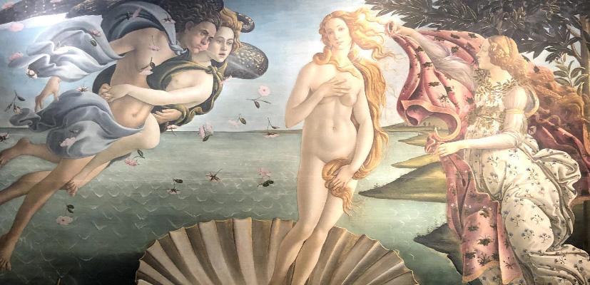 Рождение Венеры, галерея Уфиццы, Флоренция